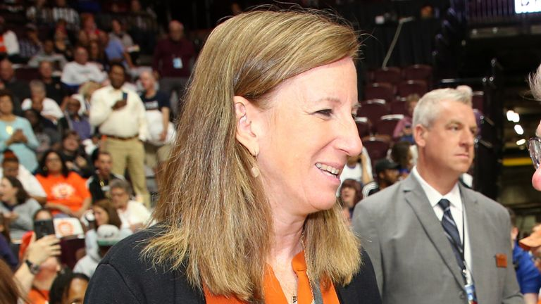 WNBA commissioner Cathy Engelbert pictured at Game 3 of the 2019 WNBA Finals