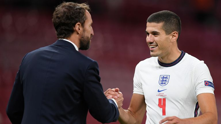 Wolves defender Conor Coady looked composed throughout his England debut