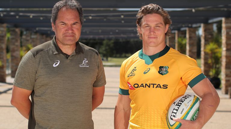 Former Glasgow Warriors head coach Dave Rennie (left) - a New Zealander - is now in charge of Australia