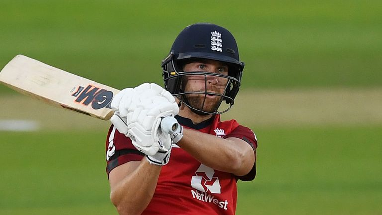 Dawid Malan played a key role in England's T20i series win over Australia in September