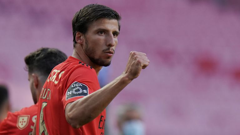 Ruben Dias scored and captained Benfica in their win over Moreinense on Saturday