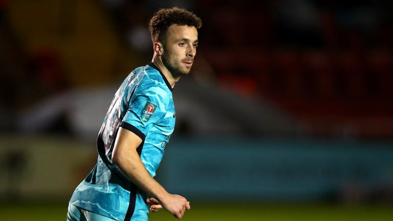 Diogo Jota made his Liverpool debut in their 7-2 thrashing of Lincoln in the Carabao Cup