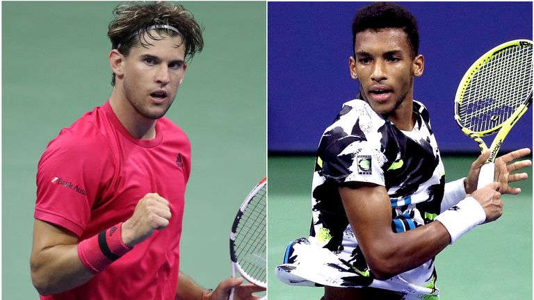 Dominic Thiem and Felix Auger-Aliassime will meet in the popcorn match of this year's US Open
