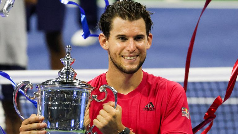 Thiem finally lifted his first Grand Slam trophy at the fourth attempt