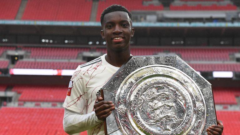 Nketiah helped Arsenal win the Community Shield last month
