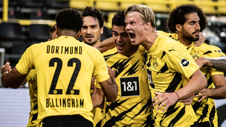 Erling Haaland was on target as Borussia Dortmund opened their Bundesliga account