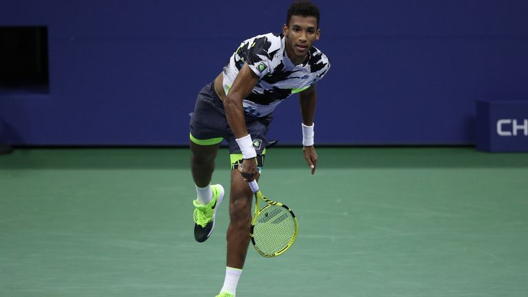 Felix Auger-Aliassime has yet to drop serve at the US Open
