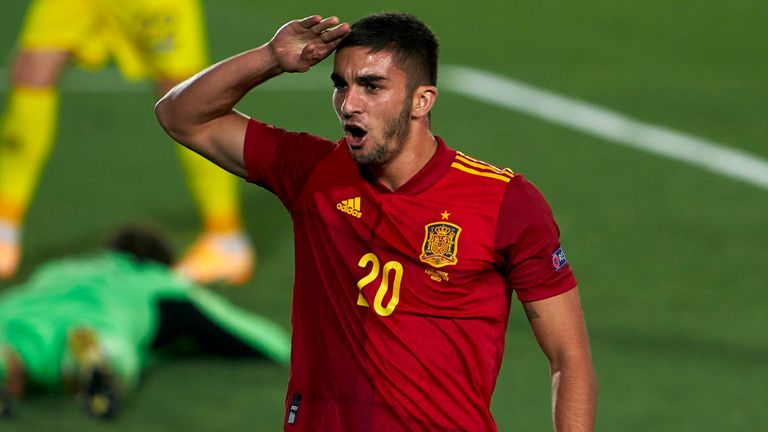 Ferran Torres scored on his second appearance for Spain