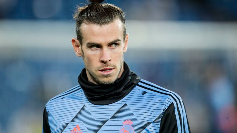Gareth Bale during a match between Real Madrid and Celta Vigo at the Santiago Bernabeu on February 16, 2020