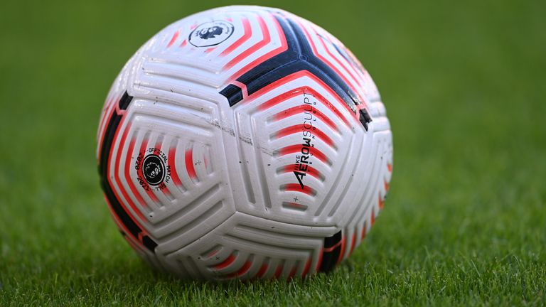 SHEFFIELD, ENGLAND - SEPTEMBER 14: A detailed view of a match ball during the Premier League match between Sheffield United and Wolverhampton Wanderers at Bramall Lane on September 14, 2020 in Sheffield, England. (Photo by Laurence Griffiths/Getty Images)