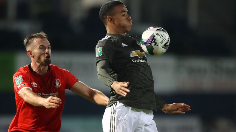 Mason Greenwood came off the bench to score against Luton