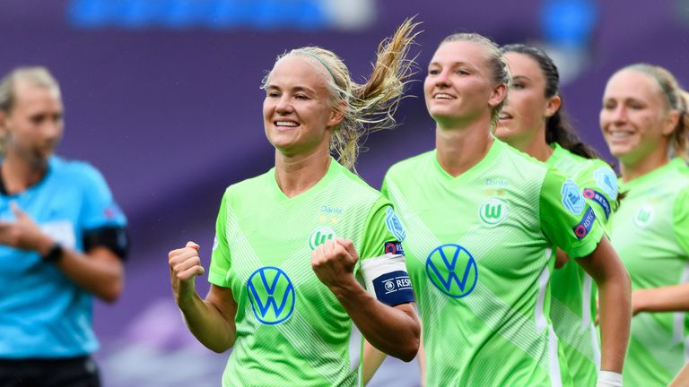 Harder scored four goals in Wolfsburg's 9-1 win over Glasgow City last month