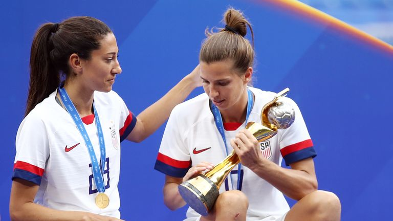 Tobin Heath and Christen Press won the World Cup with the USA in 2015 and 2019