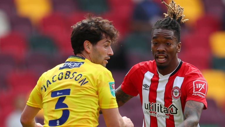 Ivan Toney made his first appearance for Brentford
