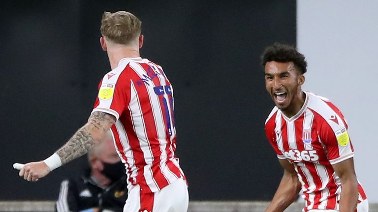 Jacob Brown scored a late winner for Stoke