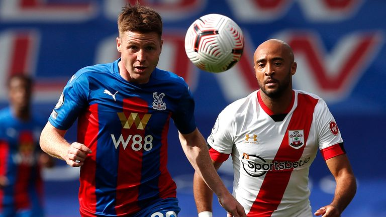 James McCarthy and Nathan Redmond in Premier League action at Selhurst Park