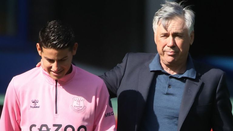 Carlo Ancelotti was full of praise for James Rodriguez after his eye-catching home debut