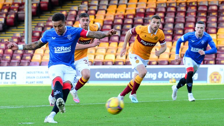 James Tavernier puts Rangers ahead from the spot