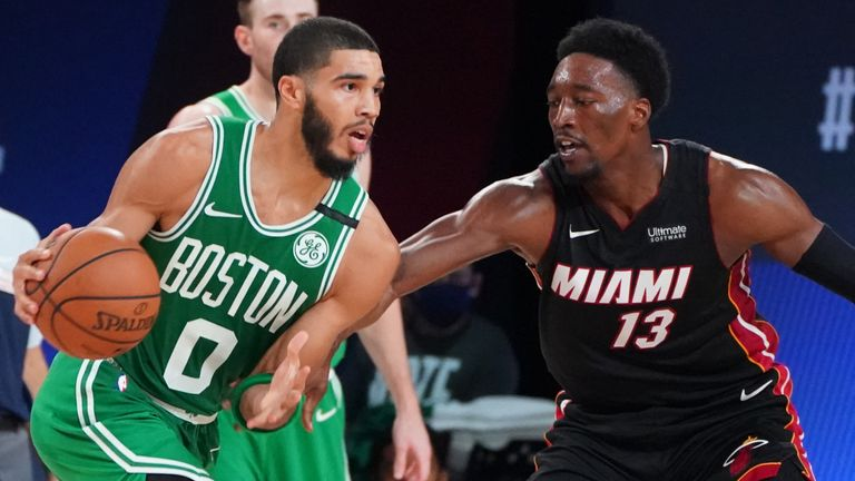 Jayson Tatum and the Boston Celtics won Game 3 of the Eastern Conference Finals against Miami Heat