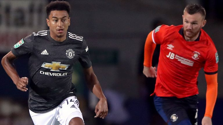 Jesse Lingard started for Manchester United against Luton in the Carabao Cup