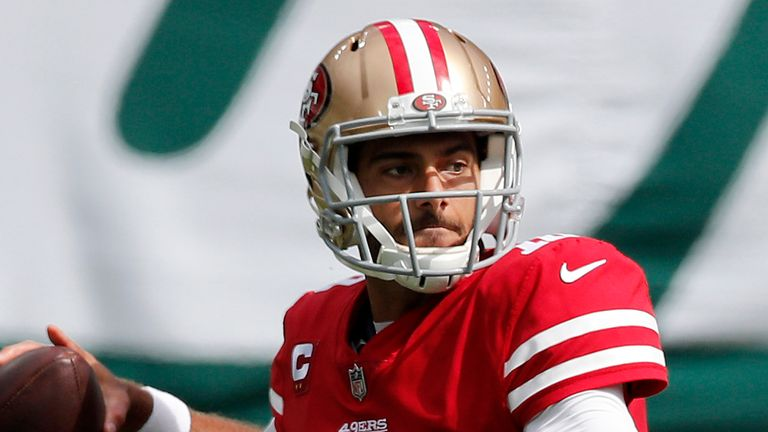 Jimmy Garoppolo will be out against the Giants this weekend