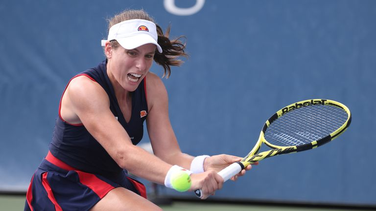 Johanna Konta's campaign in New York has ended in the second round