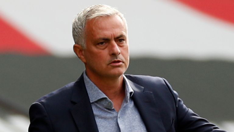Tottenham boss Jose Mourinho at Southampton away on Sunday 20th September, 2020