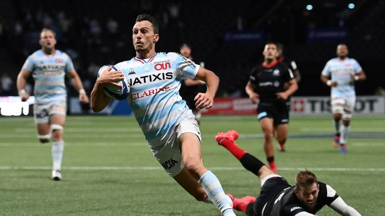 Imhoff scores the winning try for Racing 92