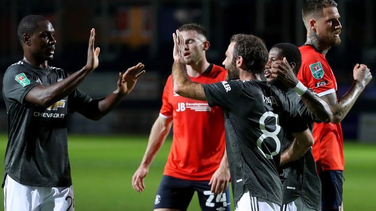 Juan Mata gave Manchester United the lead from the penalty spot at Luton