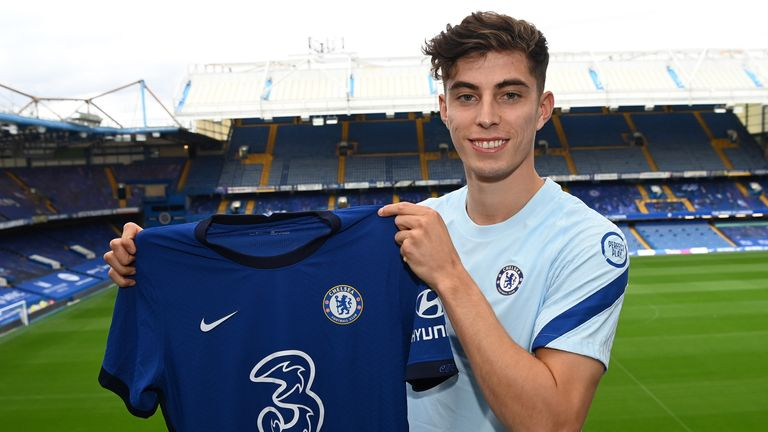 Kai Havertz has joined Chelsea