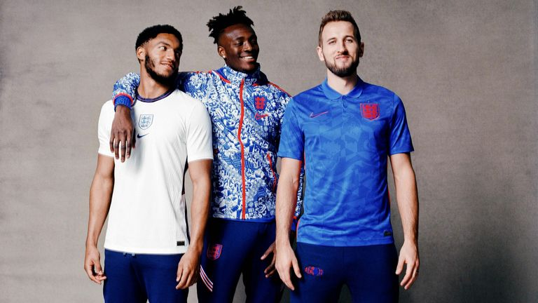 England Unveil New Home And Away Kits Ahead Of Nations League Double Header Football News Sky Sports