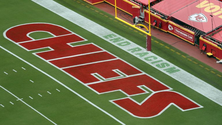 Messages will adorn the endzones of all NFL fields across the US