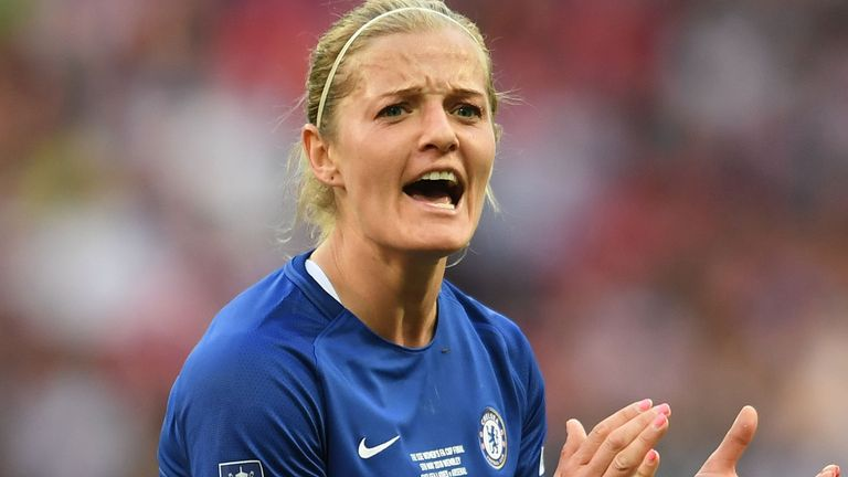Katie Chapman, who began her career at Millwall, won the FA Women's Cup in her final season at Chelsea in 2018