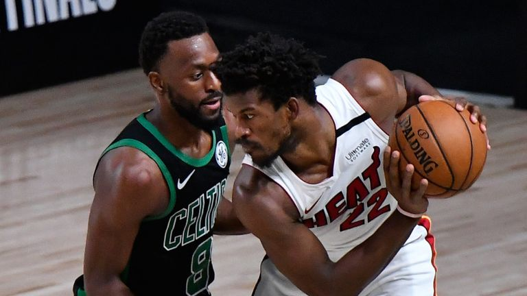 Kemba Walker guard Jimmy Butler in Game 5 of the Eastern Conference Finals