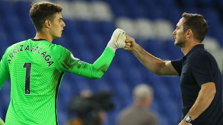 Frank Lampard insists he is happy with Kepa as his No 1 goalkeeper