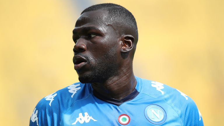 PARMA, ITALY - SEPTEMBER 20: Kalidou Koulibaly of SSC Napoli during the Serie A match between Parma Calcio and SSC Napoli at Stadio Ennio Tardini on September 20, 2020 in Parma, Italy. (Photo by Jonathan Moscrop/Getty Images)