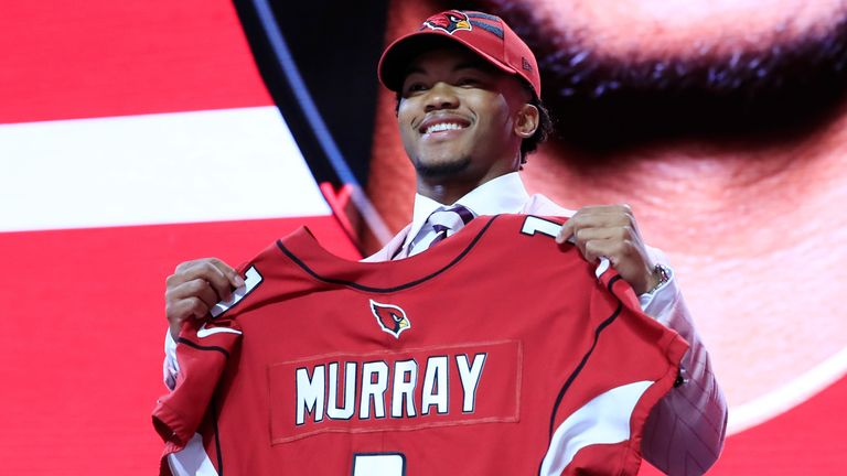 The Cardinals made Murray the No 1 overall selection in the 2019 NFL Draft
