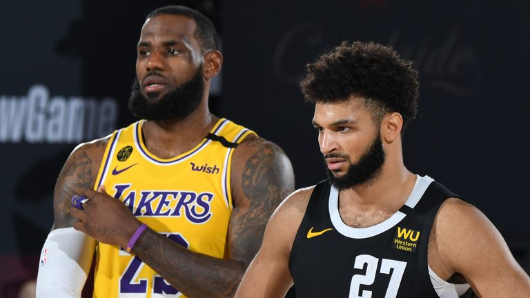 LeBron James lines up against Jamal Murray in Game 4 of the Western Conference Finals
