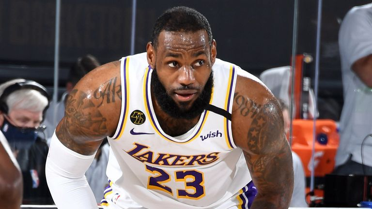 LeBron James controls possession en route to a triple-double in the Lakers' Game 3 loss to the Nuggets