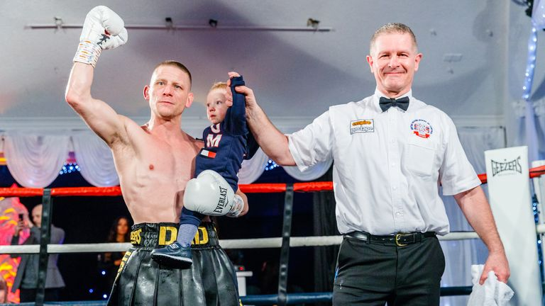 Lee Cook donated his fee for this fight to the hospital who cared for Michael Walsh's son. Photo credit: Mark Hewlett