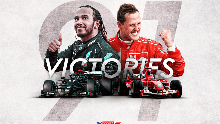 Lewis Hamilton Equals Michael Schumacher How Their F1 Win Records Compare F1 News