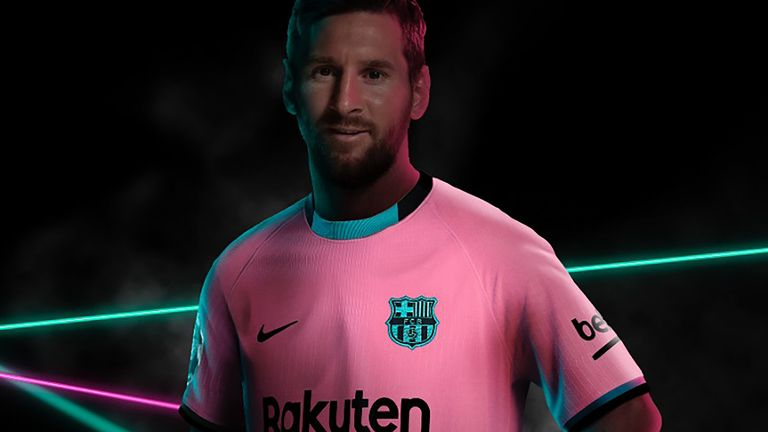 Lionel Messi Barcelona Forward Models New Shirt Ahead Of Training Return Football News Sky Sports