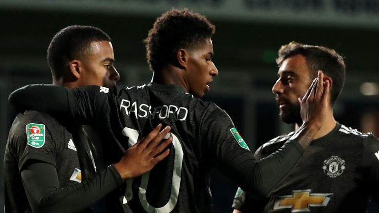 Marcus Rashford and Mason Greenwood scored late on for Manchester United at Luton