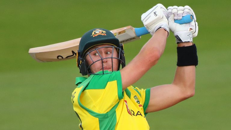Marnus Labuschagne hit a century in Australia's intra-squad warm-up match on Tuesday