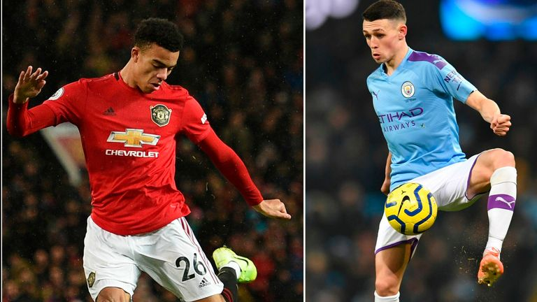 Mason Greenwood and Phil Foden