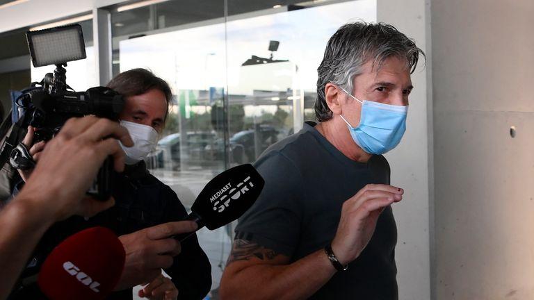 Jorge Messi arrives in Barcelona on Wednesday morning