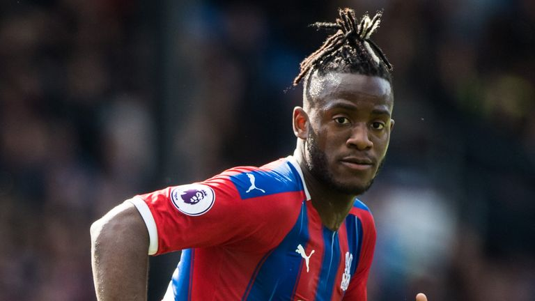Michy Batshuayi during first loan spell with Crystal Palace in 2019