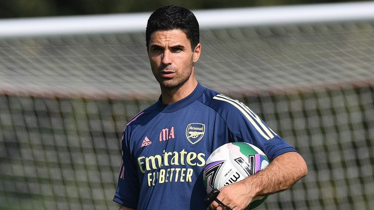 Mikel Arteta's side beat Liverpool on penalties in the Community Shield earlier this season
