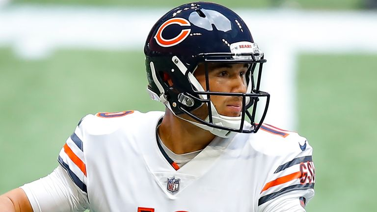 Nick Foles replaced Mitch Trubisky (pictured) as the Bears starting quarterback earlier in the season