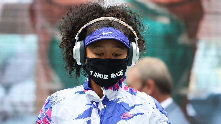 Naomi Osaka wore seven masks about black lives during her run at the US Open